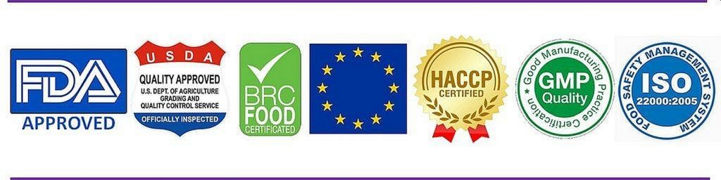 Delicious Delights Quality Certifications Banner