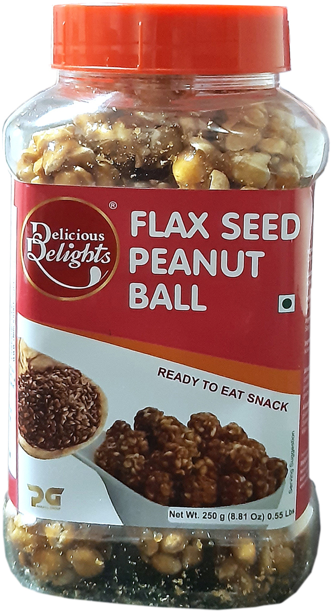 Delicious Delights Flax Seed Peanut Ball