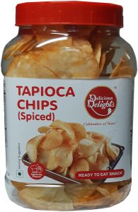Delicious Delights Tapioca Chips Spiced